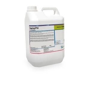 SanoPré é uma espuma suave à base de ácido lático que mantém as defesas naturais da pele enquanto higieniza. Indicada para limpeza dos tetos antes da ordenha.